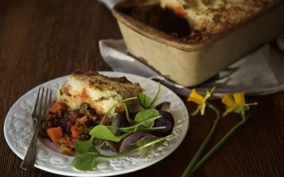 Red Dragon Pie – A Simple Vegan Shepherd's Pie