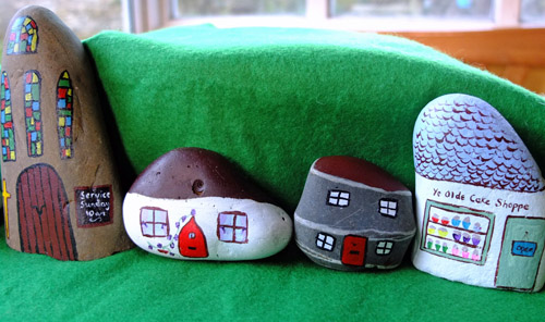 Stone Craft Fairy Houses 2