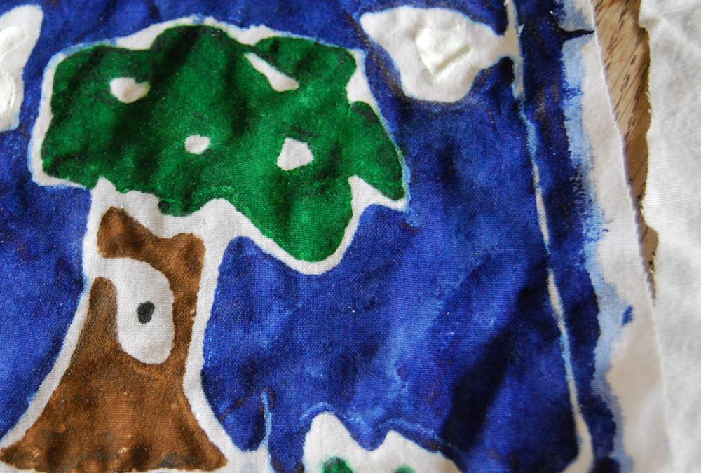 Paste Resist Batik for Kids!