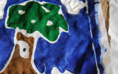 Paste Resist Batik for Kids!