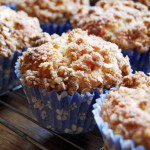 Rhubarb Crumble Muffins for Elevenses