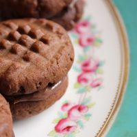 Nutella Biscuits on a decorative plate.