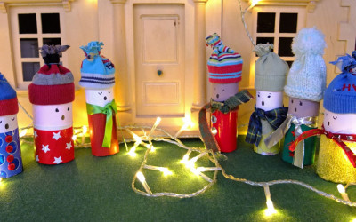 Christmas Carollers Craft –  A Cardboard Tube Choir!