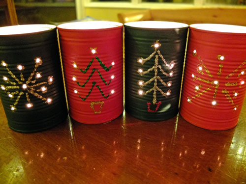 recycled crafts - Christmas Lanterns - Baked Bean Tin Lanterns