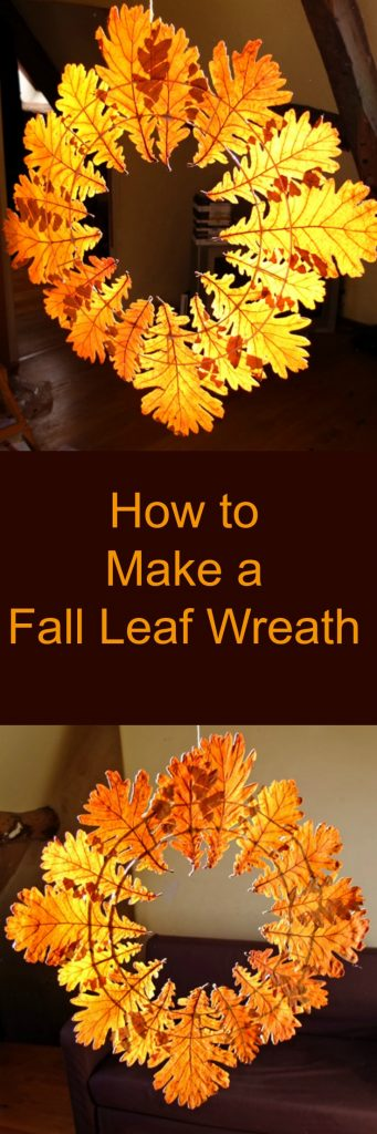 How to make a fall leaf wreath - the perfect thing to make with all those autumn leaves you collect on woodland walks!