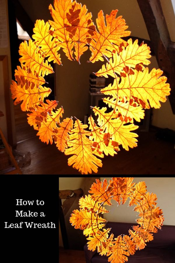 Beautiful leaf wreath in autumn light - instructions to make an autumn leaf wreath