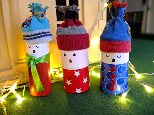 Christmas craft - toilet roll carol singers