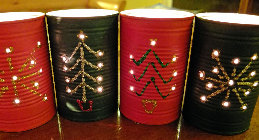 Recycled Crafts – Christmas Lanterns from Food Cans!
