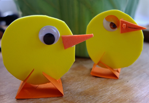 Easter craft, easter chicks, funky foam craft
