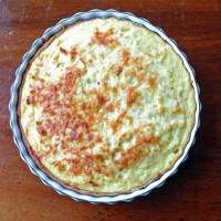 parsnip tart in a dish.