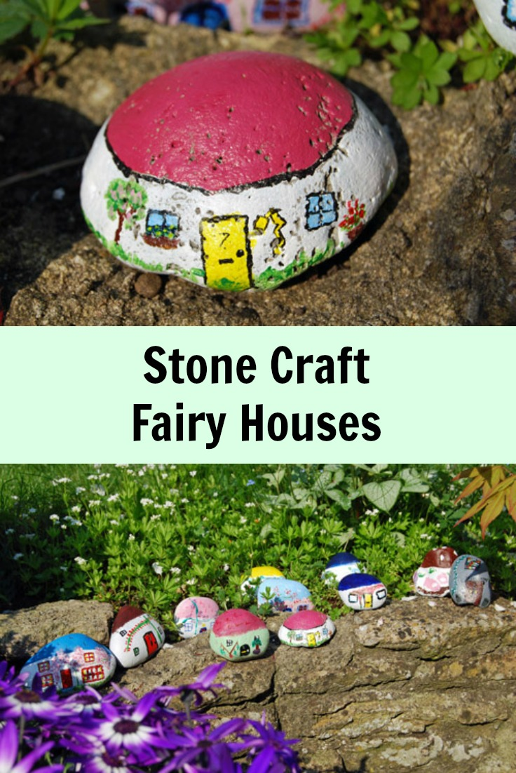 Stone Craft, Fairy Houses - such a simple spring craft, especially if you have a collector living in your house!