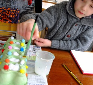 easter crafts, growing cress