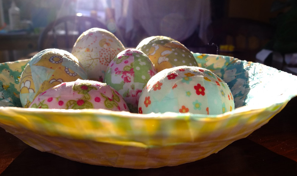 What to Make with Polystyrene Easter Eggs – Fabric Mâché