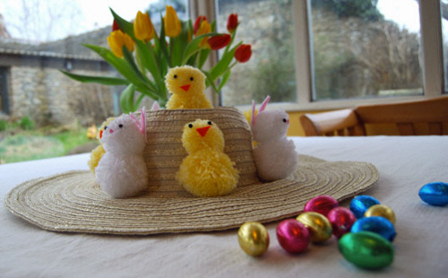 Making Easter Bonnets for Boys and Girls!