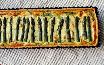 Asparagus Quiche – Spring in a Tin!