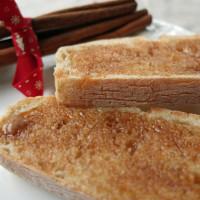 Cinnamon butter on toast.