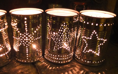 How to Make Tin Can Lanterns for Festive Friday