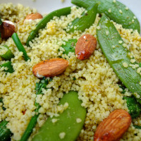 Couscous salad with almonds.