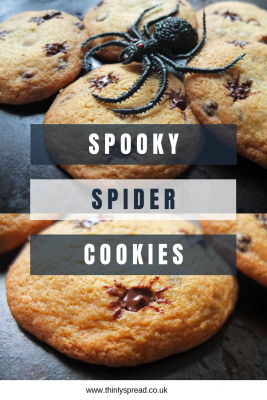 Spooky Spider Cookies with a toy spider.