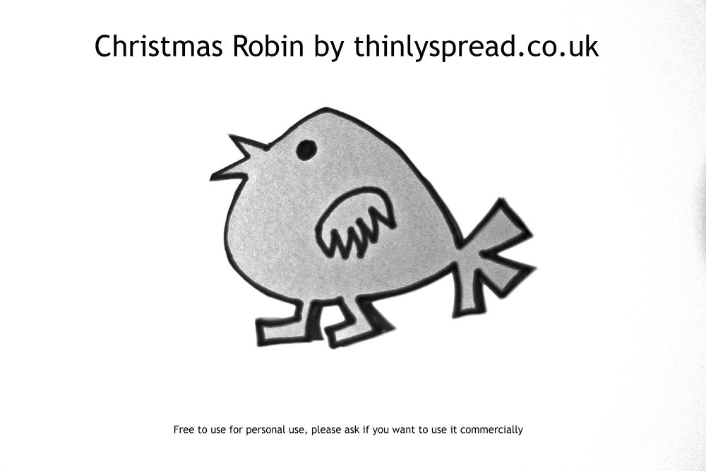 Christmas Robin shape template.