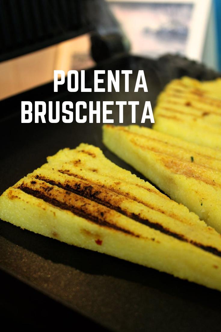Griddled Polenta Bruschetta.
