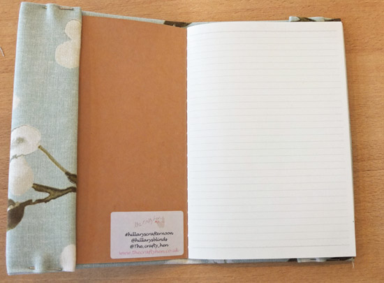 how to make a reusable fabric notebook cover