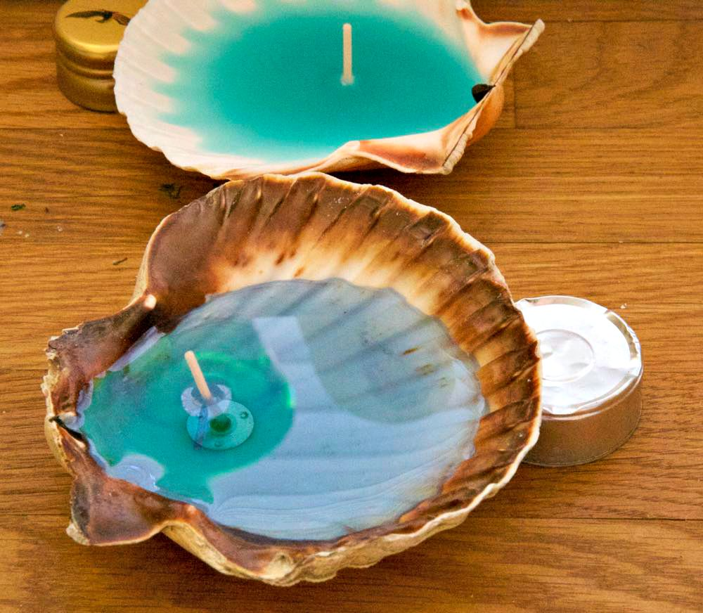 How to Make Candles in Seashells