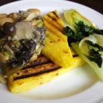 Polenta with Creamy Wild Mushrooms, Wine & Thyme