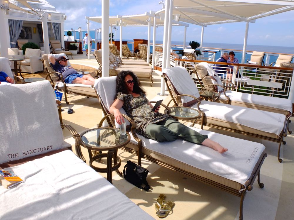 Relaxing in The Sanctuary, Island Princess, Princess Cruises
