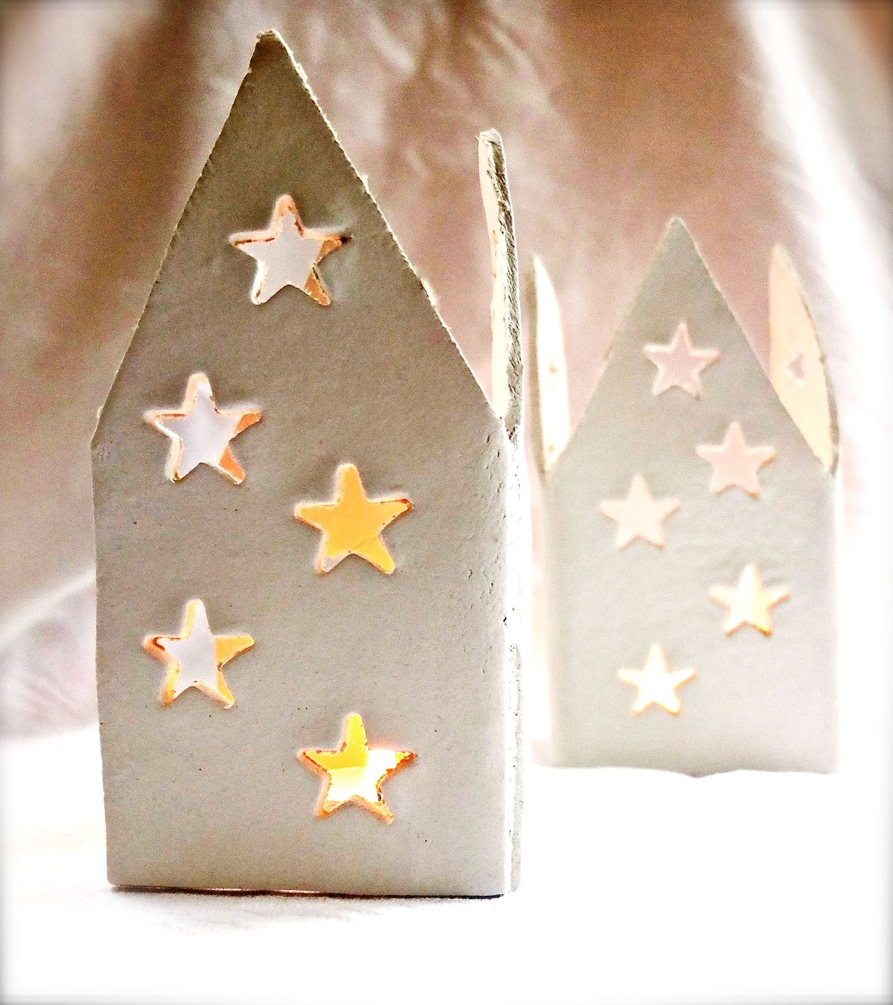 Christmas Village Lanterns DIY