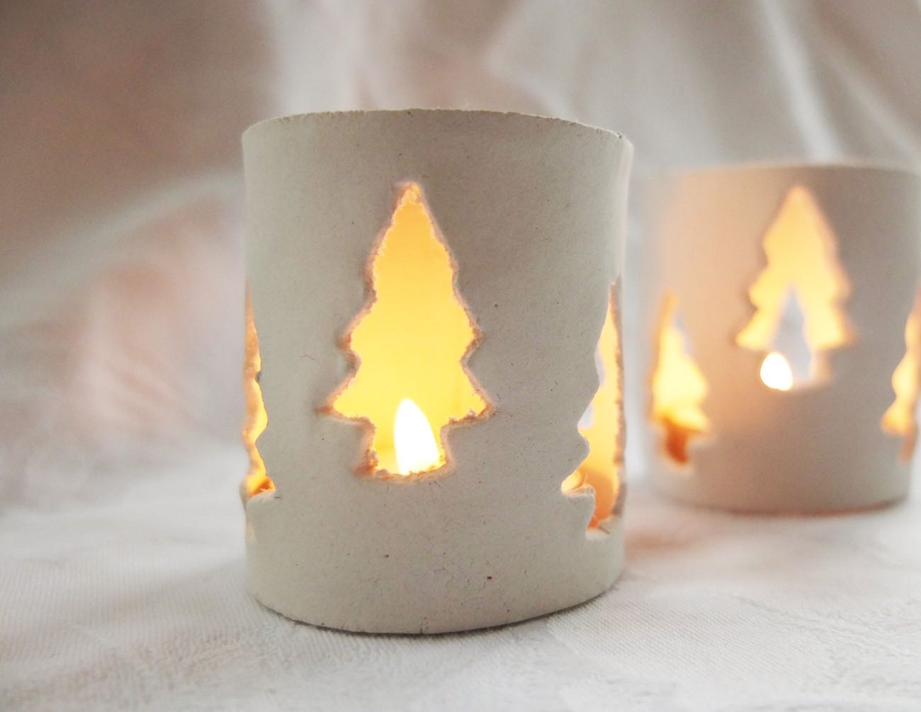 clay christmas lanterns