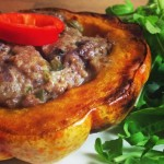 Stuffed Pumpkin with Stilton and Walnut Pàtê