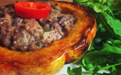 Stuffed Munchkin Pumpkins with Stilton and Walnut Pàtê