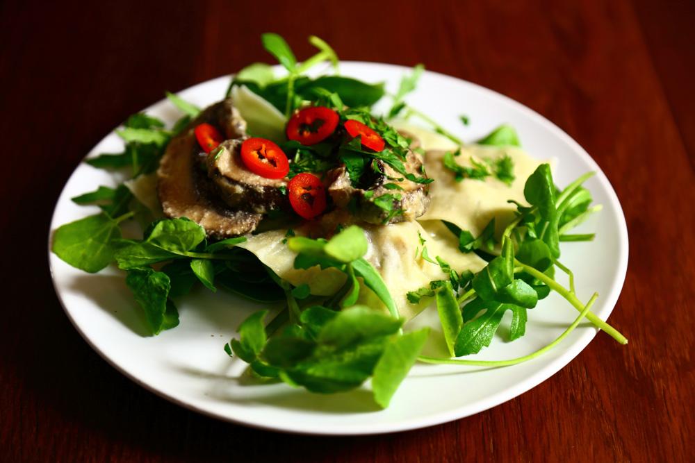 Vegan Ravioli Filled with Parsnips and Porcini