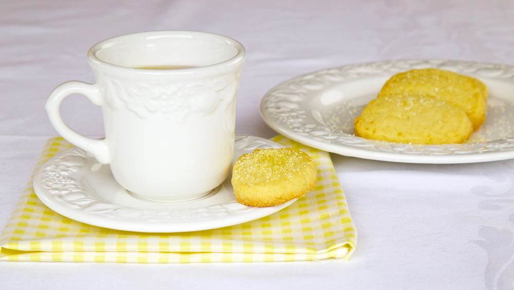 Lemon Shortbread Biscuits, delicious with a nice cup of Afternoon Tea