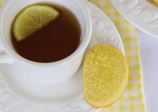 Lemon Shortbread for Afternoon Tea