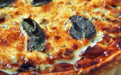 Goats Cheese Tart with Mint