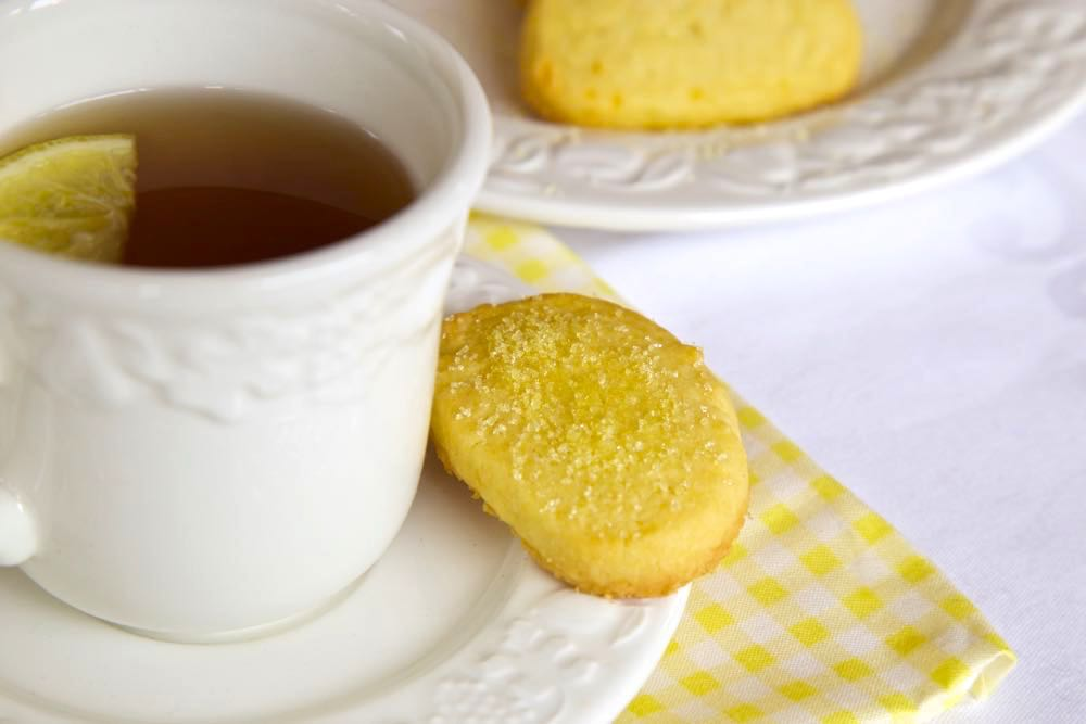 Homemade Lemon Shortbread Biscuit recipe, delicious with a nice cup of afternoon tea!