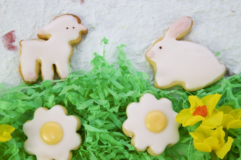 Lamb, flower and Bunny Biscuits.