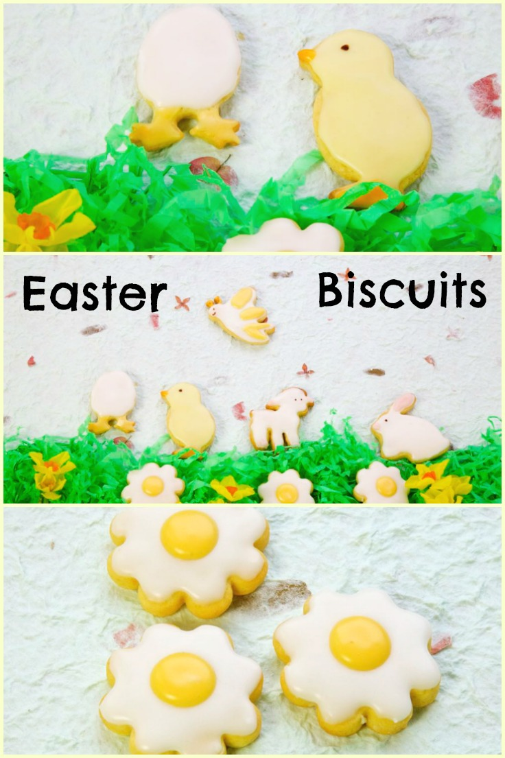 Collage of Lemony Spring Biscuit photos.