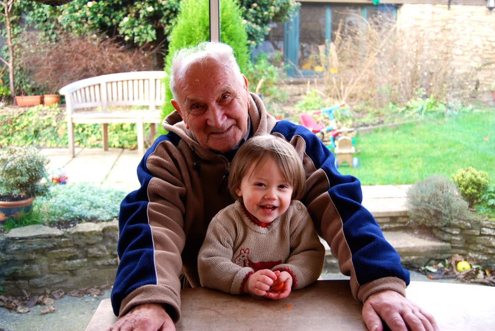 Henri in 2008 with his grandson.