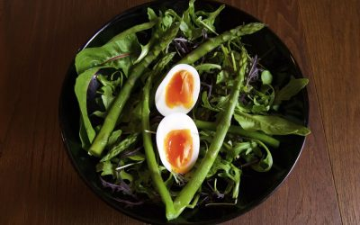 Asparagus Salad with Soft Boiled Egg