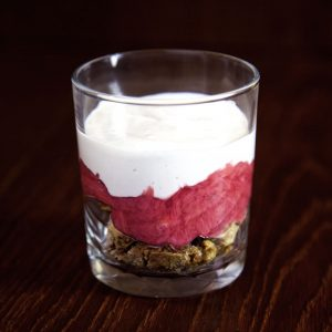 Vegan Rhubarb and Ginger Parfait