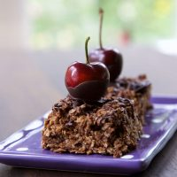 Chocolate Cherry Flapjack - more than just flapjack, this is indulgent, grown up flapjack! thinlyspread.co.uk