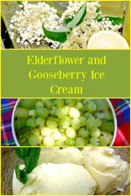Elderflower and Gooseberry Ice Cream.