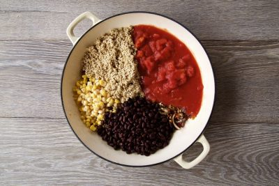 One Pot Mexican Quinoa ingredients.