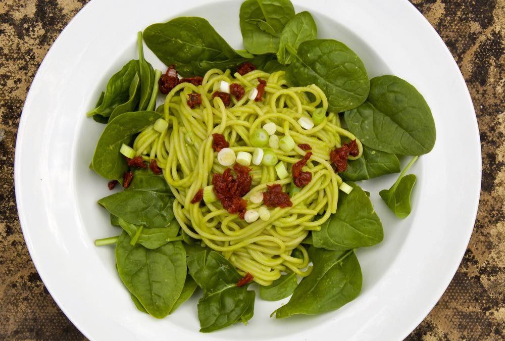 Pea Pesto with Spaghetti