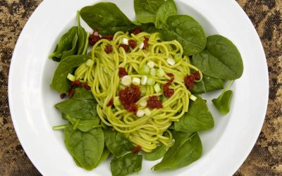 Pea Pesto with Spaghetti