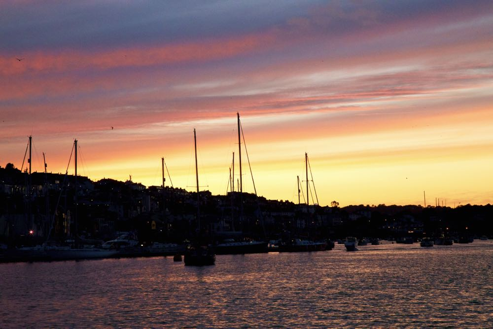 Safe in harbour at sunset.