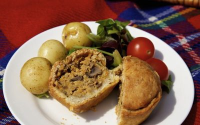 Vegan Picnic Pies with Crisp Hot Water Crust Pastry